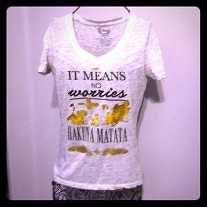 Disney Hakuna Matata, no worries, T shirt small